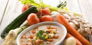 Итальянский суп с фаршем и сельдереем