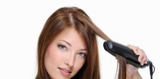 Как выпрямить волосы утюжком?