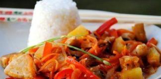 Курица к кисло-сладком соусе по-китайски
