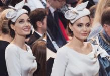 Анджелина Джоли в элегантном образе на службе в Лондоне (ГОЛОСОВАНИЕ)