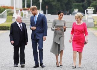 Принц Гарри и Меган Маркл встретились с президентом Ирландии: герцогиня снова восхитила элегантностью