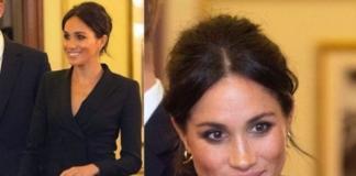 Меган Маркл впервые после свадьбы появилась на публике в коротком платье (ФОТО)