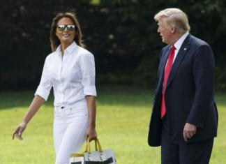 Настоящая леди: Мелания Трамп в юбке и на каблуках посадила дерево (ФОТО)