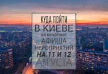 Куда пойти в Киеве на выходные: афиша мероприятий на 11-12 августа