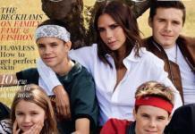 Виктория Бекхэм с детьми появилась в фотосессии для британского Vogue