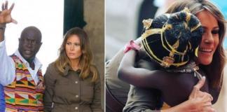 Ничто не должно быть забыто: Мелания Трамп с африканским вождем посетила крепость, где содержали рабов