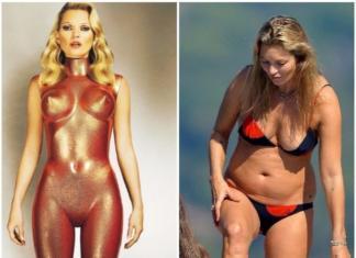 Потолстевшая Кейт Мосс в купальнике нарвалась на критику (ФОТО)
