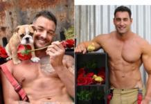 Мускулистые пожарные из Австралии появились в фотосессии с животными для благотворительного календаря (ФОТО)