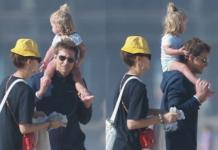 Солнце, океан, песок: Ирина Шейк и Брэдли Купер сводили дочь на пляж (ФОТО)