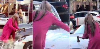 Кто разгромил топором Porsche в центре Киева: появилась официальная информация