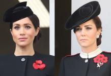 Меган Маркл и Кейт Миддлтон на параде в честь 100-летия окончания Первой мировой войны: герцогини в похожих образах