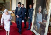 Реалистичный портрет Елизаветы II в Виндзорском замке (ФОТО)