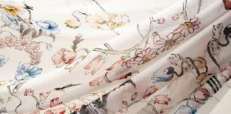 Натуральный шелк шифон в доме ткани Тиссура