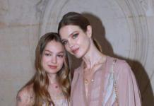 Водянова вывела в свет младшую сестру