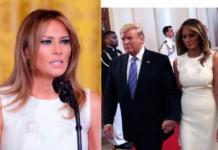Мелания Трамп в белом платье Prada появилась на мероприятии в Белом доме (ГОЛОСОВАНИЕ)