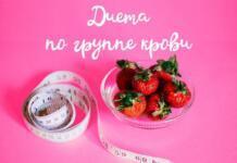 Диета по группе крови: худеем без табу