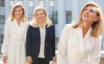 Елена Зеленская в эффектном образе от Dafna May появилась на публике (ФОТО)