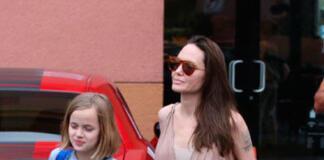 Джоли удивила пышными формами в пикантном платье