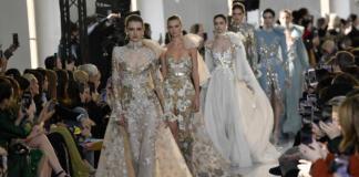 Золото, блестки и кристаллы в коллекции Elie Saab Couture