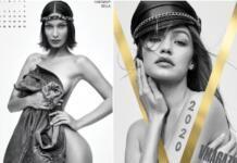 В честь 20-летия V Magazine: сестры Хадид, Хейли Бибер и другие снялись топлесс для календаря