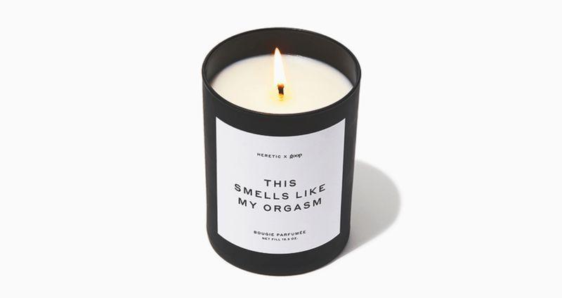 Свеча с ароматом оргазма Гвинет Пэлтроу